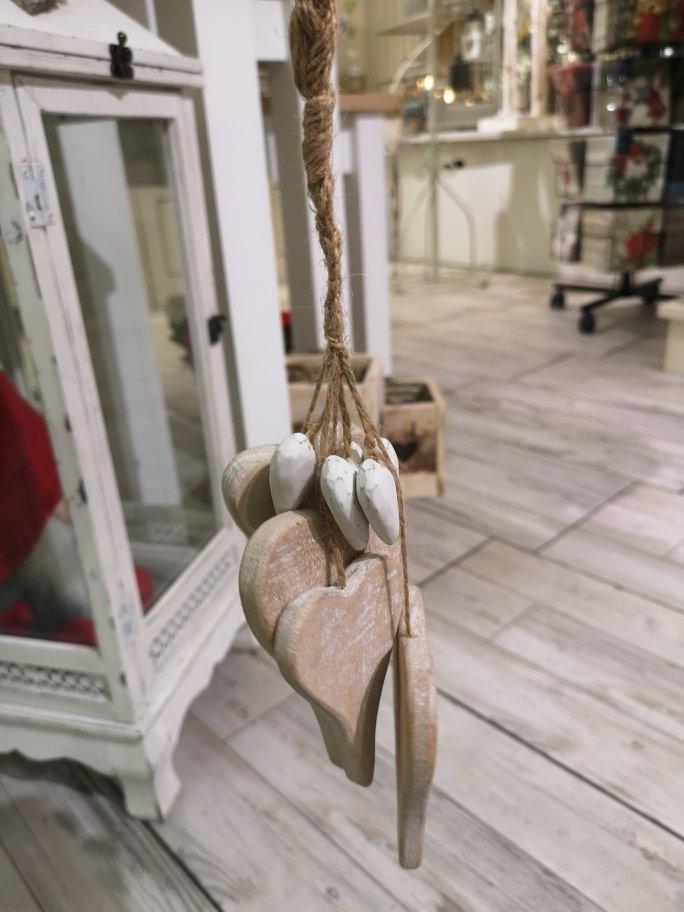 Grappolo Cuori Legno Decapato – J\'aime Boutique