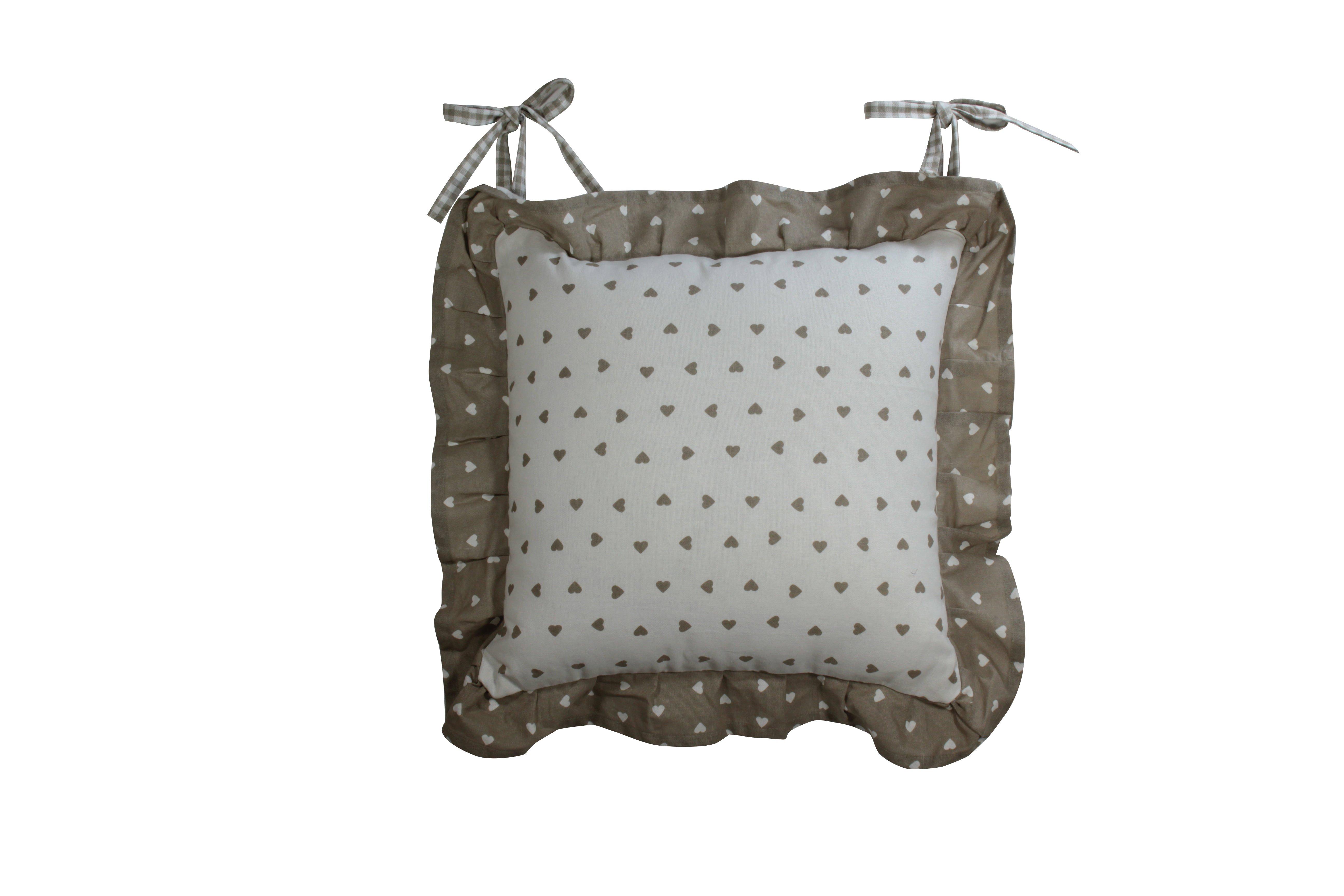 Cuscino emma plissettato per sedia cuoricino nocciola 40 - Pasqualetti home decor ...