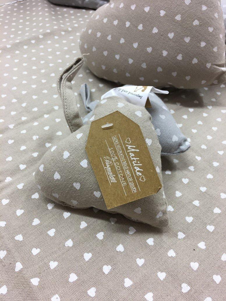Cuoricino in stoffa beige piccolo 10x10cm j 39 aime boutique - Pasqualetti home decor ...